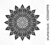 mandala. round ornament pattern. | Shutterstock .eps vector #420068998