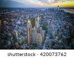 the new york city skyline at... | Shutterstock . vector #420073762