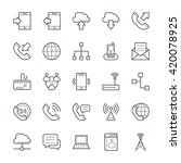communication cool vector icons ... | Shutterstock .eps vector #420078925