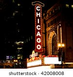 Famous Chicago Theater Sign