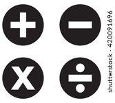 math symbols icon | Shutterstock .eps vector #420091696