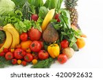 fresh fruits and vegetables | Shutterstock . vector #420092632