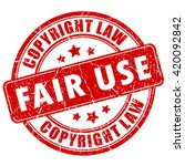 fair use copyright rubber stamp ... | Shutterstock .eps vector #420092842