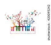 colorful music background with ... | Shutterstock .eps vector #420095242