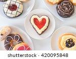 fresh donut served on the table | Shutterstock . vector #420095848
