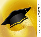 fly graduation cap on create... | Shutterstock .eps vector #420097216