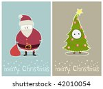 two funny christmas characters | Shutterstock .eps vector #42010054