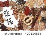 chinese herbal medicine...   Shutterstock . vector #420114886