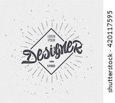 designer   insignia sticker can ... | Shutterstock . vector #420117595