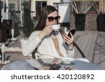 woman using the phone | Shutterstock . vector #420120892