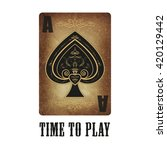 Ace Of Spades. Playing Card....