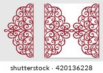 greeting card  laser cut pattern | Shutterstock .eps vector #420136228