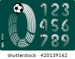 football  soccer  vector set of ... | Shutterstock .eps vector #420139162