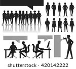 human silhouettes set. crowd.... | Shutterstock .eps vector #420142222