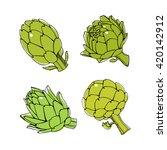 vector illustration of hand... | Shutterstock .eps vector #420142912