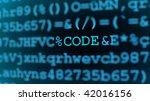 security code coded   Shutterstock . vector #42016156