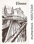 hand drawn vienna bridges ... | Shutterstock .eps vector #420171265