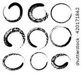 circle of zen  buddhism in... | Shutterstock .eps vector #420171862