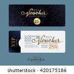 premium gift voucher template. | Shutterstock .eps vector #420175186