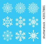 snowflakes   symbol designs for ... | Shutterstock .eps vector #42017881