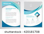 vector brochure flyer design... | Shutterstock .eps vector #420181708
