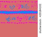 seamless horizontal pattern of... | Shutterstock .eps vector #420184102
