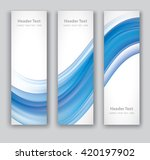 design set of vertical modern... | Shutterstock .eps vector #420197902