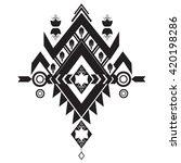 vector aztec style tribal... | Shutterstock .eps vector #420198286