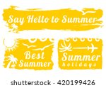summer style grunge banners.... | Shutterstock .eps vector #420199426