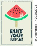 summer time phrase... | Shutterstock .eps vector #420202726