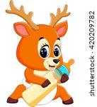 illustration of cute deer... | Shutterstock .eps vector #420209782
