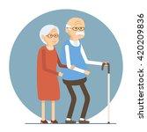illustration of happy senior... | Shutterstock . vector #420209836