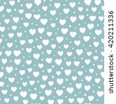 seamless hearts and dots... | Shutterstock .eps vector #420211336