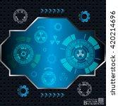 digital abstract technology... | Shutterstock .eps vector #420214696