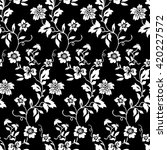 tiny flowers seamless pattern ... | Shutterstock .eps vector #420227572