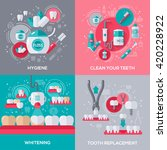 dentistry banners set with flat ...   Shutterstock .eps vector #420228922