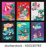 cartoon style. summer tourism... | Shutterstock .eps vector #420230785