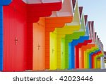 beach huts at scarborough north ... | Shutterstock . vector #42023446