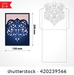 vector laser cut envelope... | Shutterstock .eps vector #420239566