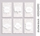 set of wedding card flyer pages ... | Shutterstock .eps vector #420242092