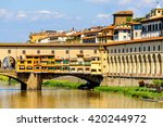 ponte vecchio  old bridge   a... | Shutterstock . vector #420244972