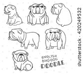 Dogs Characters Doodle Sticker...