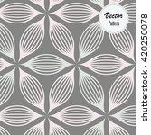 abstract linear petal flower.... | Shutterstock .eps vector #420250078
