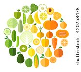 fruits and vegetables vector...