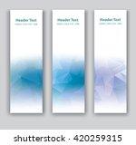 abstract vector vertical banner.... | Shutterstock .eps vector #420259315