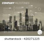 vector timeline infographic...   Shutterstock .eps vector #420271225