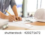 architecture drawing on... | Shutterstock . vector #420271672
