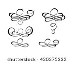 beautiful flourishes for... | Shutterstock .eps vector #420275332