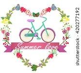 romantic background | Shutterstock .eps vector #420277192