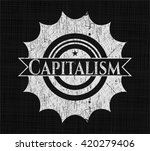 capitalism with chalkboard... | Shutterstock .eps vector #420279406